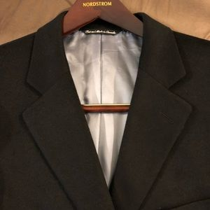 Jack Victor Black Loro Piana Cashmere Blazer 42R